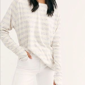 Free People We The Free Arden Striped Tee NWT Sz S